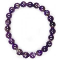 Amethyst round bead bracelet (8mm)