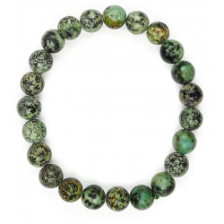 African turquoise round...