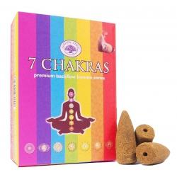7 Chakras backflow incense cones (Green Tree)