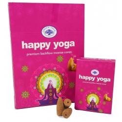 12 packs Happy Yoga backflow incense cones (Green Tree)