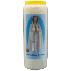 Novena candle Maria Rosa Mystica