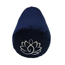 Bolster canvas Lotus navy blue