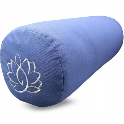 Bolster canvas Lotus light blue