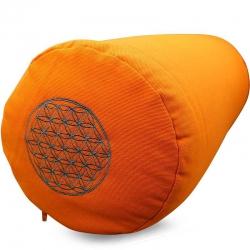 Bolster canvas Flower of Life orange