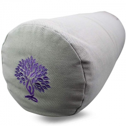 Bolster canvas Yoga Tree gray