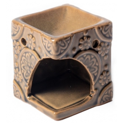 Aroma burner beige with flowers