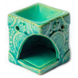 Aroma burner green with flowers