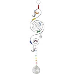Feng-Shui chakra pentacle / moon kristalhanger