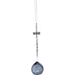 Feng-Shui kristalhanger (lichtblauw)