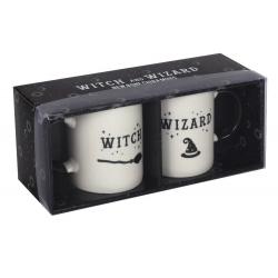 Witch & Wizard mug set (white)