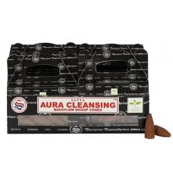 6 packs Aura Cleansing Backflow incense cone (Satya)