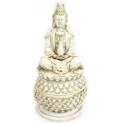 Incense burner Kwan Yin (white)
