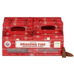 6 packs Dragon's Fire Backflow incense cone (Satya)