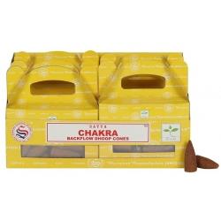 6 packs Chakra Backflow incense cone (Satya)