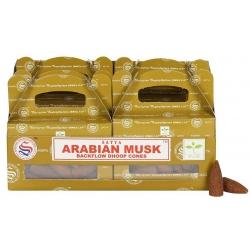 6 packs Arabian Musk Backflow incense cone (Satya)