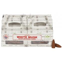 6 packs White Musk Backflow incense cone (Satya)