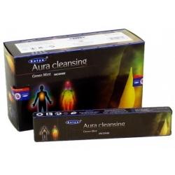 Aura Cleansing Green Mint incense 15gr (Satya)