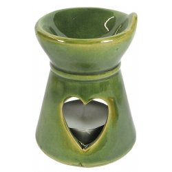 Aroma burner green with heart