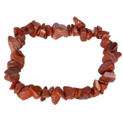 Edelsteen splitarmband - Rode Jaspis