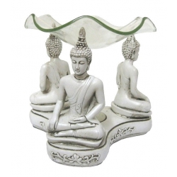 Thai Buddha oliebrander (wit)