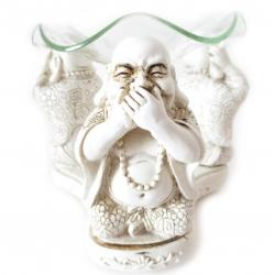 Chinese boeddha oliebrander Wit (Horen, zien, zwijgen)