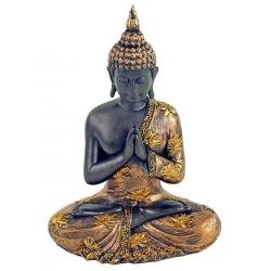 Boeddha Namaste met goudkleurig gewaad