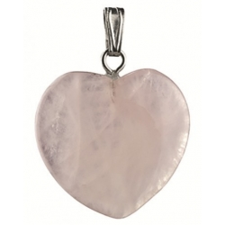 Edelsteen harthanger Rozekwarts 20 mm