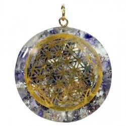 Orgone hanger Flower of life (amethist en bergkristal)