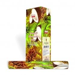 Darshan Coconut Cinnamon Clove wierook (per doos)