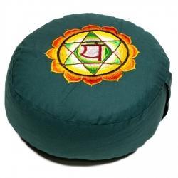 Meditatiekussen 4e chakra geborduurd (8104)