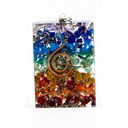 Orgone pendant multi-colored (square)
