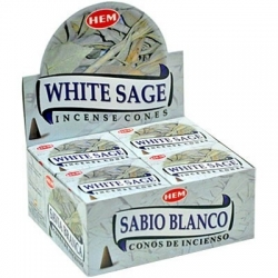 HEM Incense Cone White Sage (12 packs)