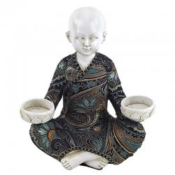 Shaolin monk with 2 tea light holders