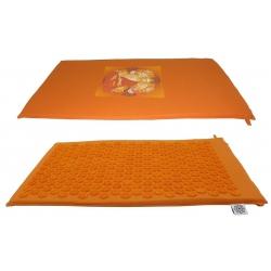Acupressure matt orange with Buddha
