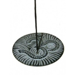 Incense burner OHM (black soapstone)