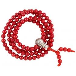Mala Coral AA quality with guru bead