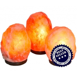 Salt lamp Himalaya with wooden feet 2 to 4 kg
