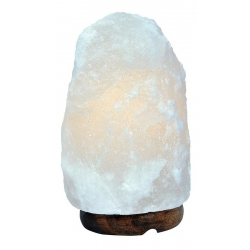 Salt lamp White with wooden base 2 - 3 kg
