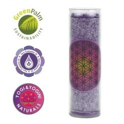 Scented candle Flower of Life (purple)