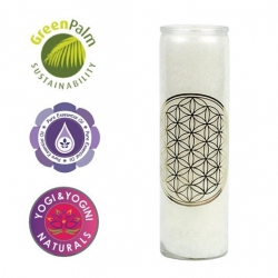 Scented candle Flower of Life (white)