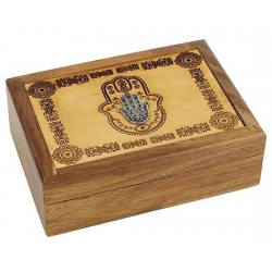 Tarot box Hand of Fatima engraved