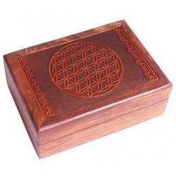 Tarot box Flower of Life engraved