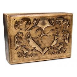 Tarot box Heart engraved