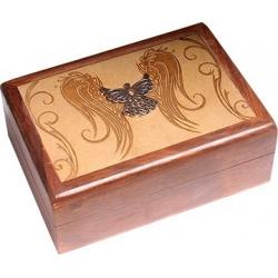Tarot box Angel engraved
