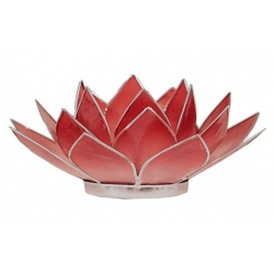 Lotus mood light - 2-color pink / red (silver colored edges)