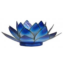 Lotus mood light - 2-color light blue / dark blue