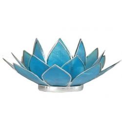 Lotus mood light - Aquamarine (silver colored edges)