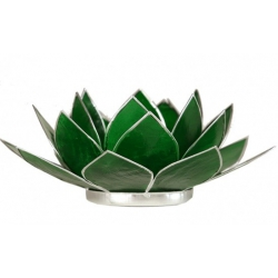 Lotus mood light - Emerald green (silver colored edges)