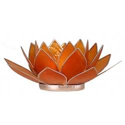 Lotus Candles burner-orange (silver-colored edges)