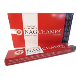 12 packets of Golden Nag Champa Agarbathi incense